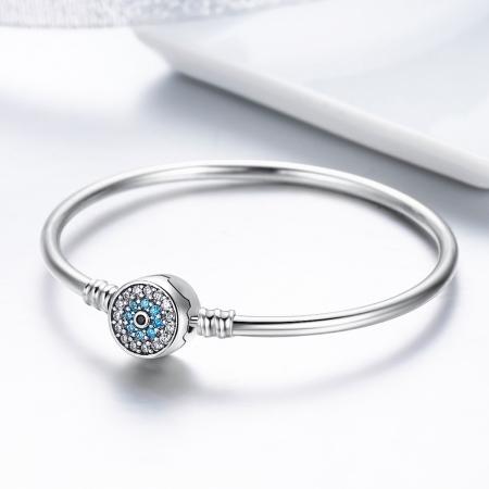 Bratara argint 925 floare albastra cu zirconii - Be Nature BST00245