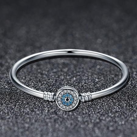 Bratara argint 925 floare albastra cu zirconii - Be Nature BST00252