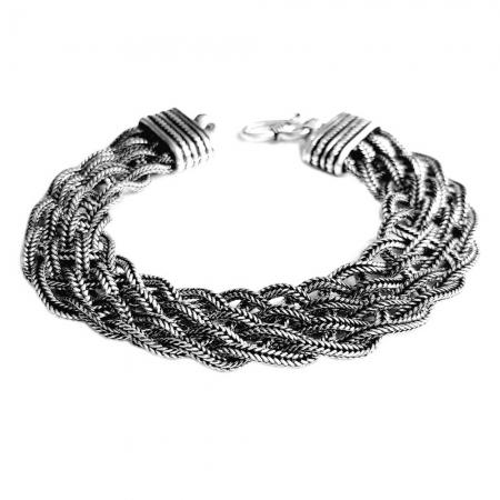 Bratara argint 925 impletita, Timeea1