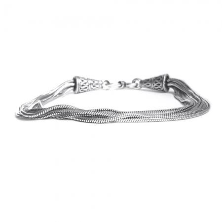 Bratara argint 925 manunchi de lantisoare cu conuri  , Leila2