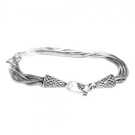 Bratara argint 925 manunchi de lantisoare cu conuri  , Leila1