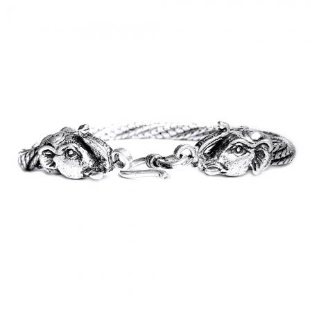 Bratara argint 925 manunchi de lantisoare cu elefanti  , Ganesha