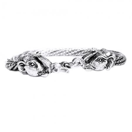 Bratara argint 925 manunchi de lantisoare cu elefanti  , Ganesha2