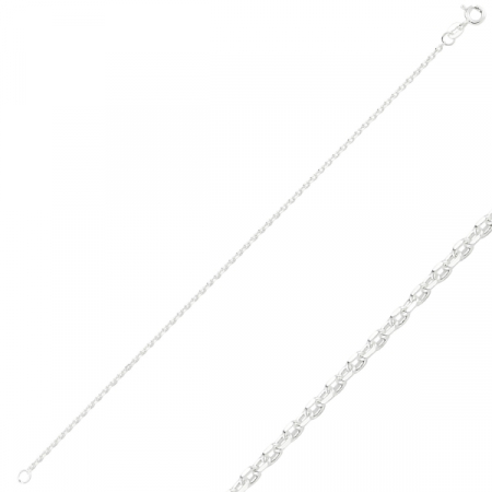 Bratara argint 925 model Forzentina cu taietura tip diamant - Lungime: 50 cm