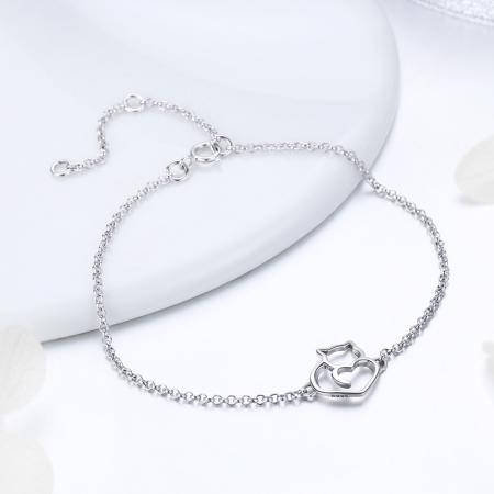 Bratara argint 925 reglabila cu pisicuta - Be Nature BST00403