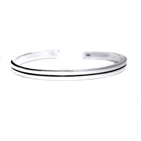 Bratara argint 925 simpla, Minimal1
