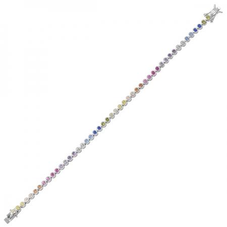 Bratara argint 925 tennis cu zirconii multicolore - Be Elegant BTU0087