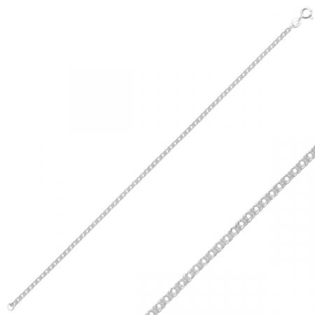 Bratara argint 925 tip Rombo - Lungime: 50 cm