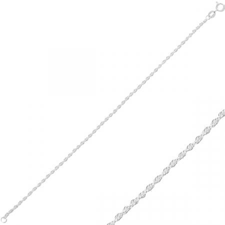 Bratara argint clasica placata cu rodiu