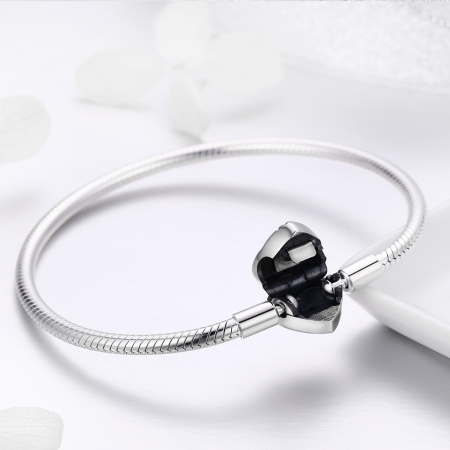 Bratara argint pentru talismane, cu inima [5]