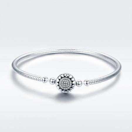 Bratara argint pentru talismane, cu zirconii [2]