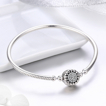 Bratara argint pentru talismane, cu zirconii [3]