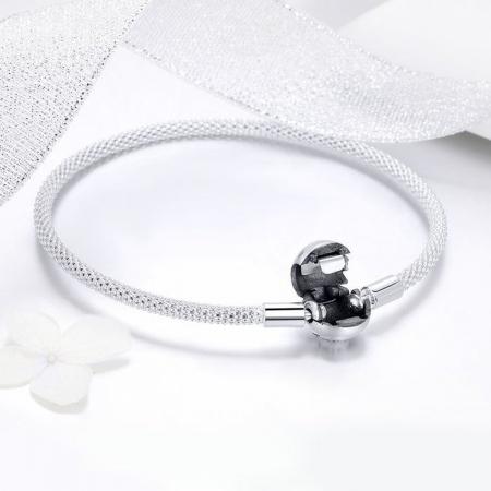 Bratara argint pentru talismane, gravata cu Forever Love4