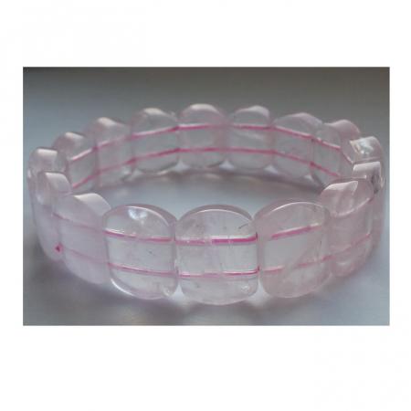 Bratara cu pietre semipretioase cuart roz