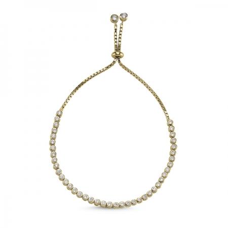 Bratara tenis din argint 925 aurit cu zirconii albe - Be Elegant BTU0103