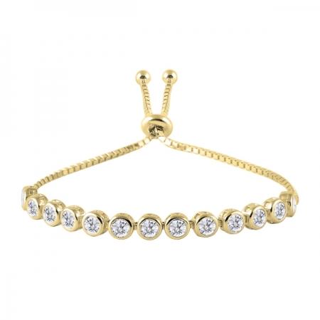 Bratara tenis din argint 925 aurit cu zirconii albe - Be Elegant BTU0104