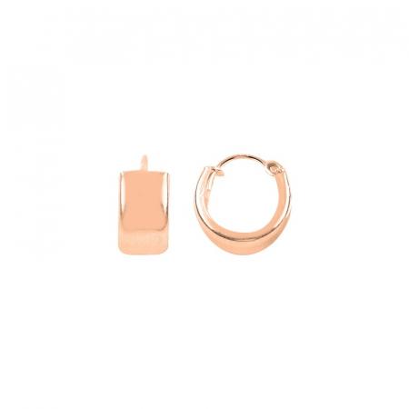 Cercei agint cu cerc de 12 mm placati cu aur roz