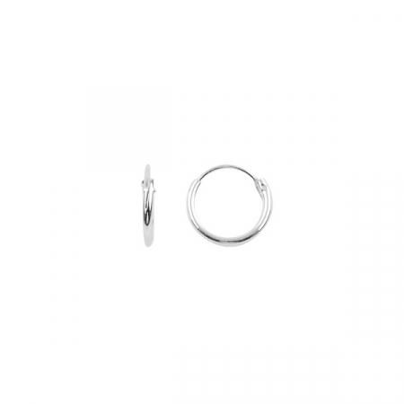 Cercei agint simpli cu cerc de 10 mm