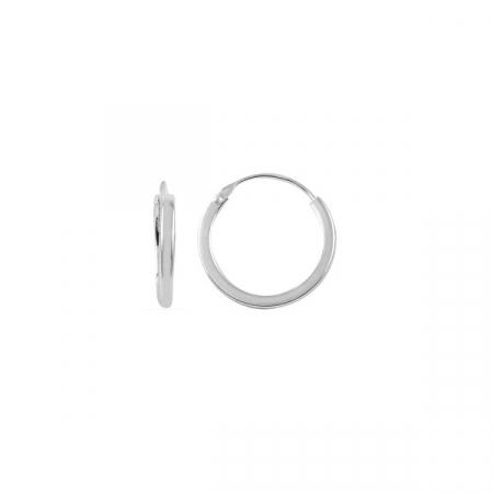Cercei agint simpli cu cerc de 14 mm