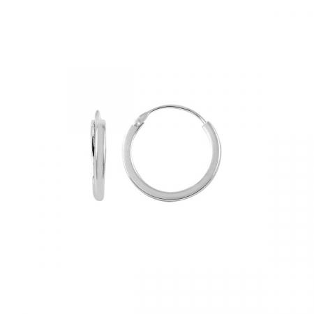 Cercei agint simpli cu cerc de 16 mm
