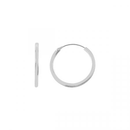 Cercei agint simpli cu cerc de 18 mm