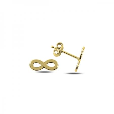 Cercei argint 925 aurit cu infinit - Infinite You ETU0063