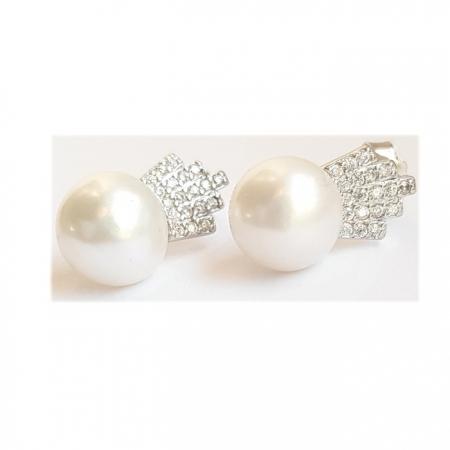 Cercei argint 925 coroane cu perle CER06980