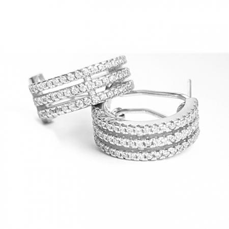 Cercei eleganti din argint 925 rodiat cu zirconii CER0811