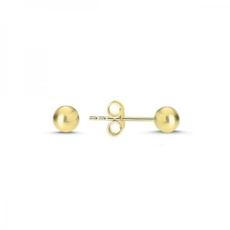 Cercei argint 925 cu bilute aurii - Be Authentic ETU0074
