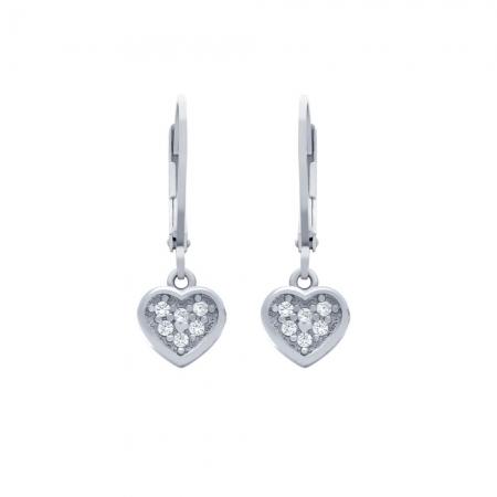 Cercei argint 925 cu inimioare si zirconii ESX03631