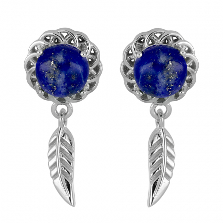 Cercei argint 925 cu Lapis lazuli  - EVA0052