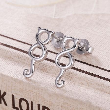Cercei argint 925 cu pisicute - Be Nature EST00075