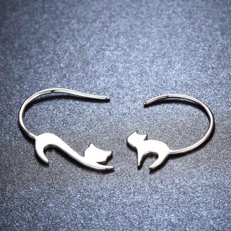 Cercei argint 925 cu pisicute - Be Nature EST00083
