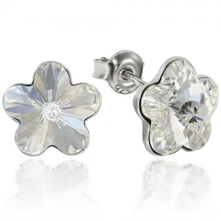 Cercei argint 925 cu swarovski elements Crystal Clear
