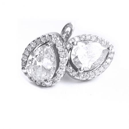 Cercei argint 925 rodiat cu zirconii CER08280
