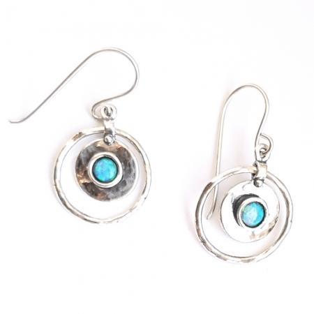 Cercei argint 925 Israel cu opal imperial - Be Nature EPO0044