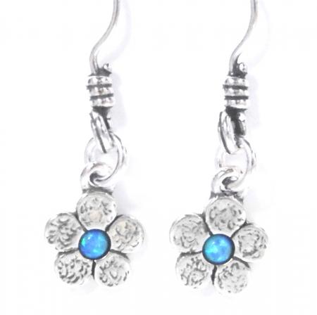 Cercei argint 925 Israel floare cu opal imperial - Be Nature EPO00351