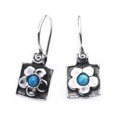 Cercei argint 925 Israel floricele cu opal imperial - Be Nature EPO0013