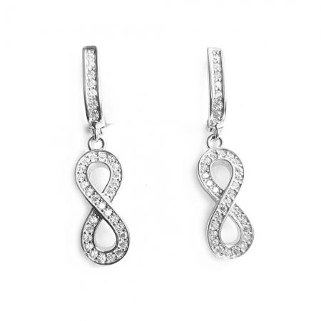 Cercei argint 925 rodiat cu infinit si zirconii - CER0751 - Be Eelegant1