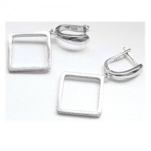 Cercei argint 925 rodiat cu romburi1