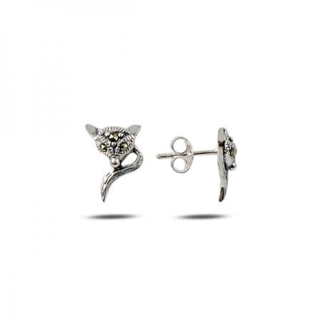 Cercei argint 925 vulpite cu marcasite - Be Nature ETU0084