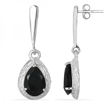 Cercei argint Anne Boleyn, 925, cu onix negru - EVA0006 [1]