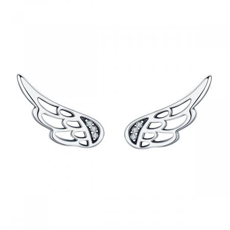Cercei argint aripi de inger cu cristale