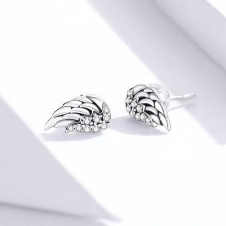 Cercei argint Aripi de Inger cu zirconii3
