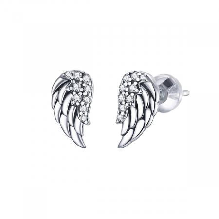 Cercei argint Aripi de Inger cu zirconii