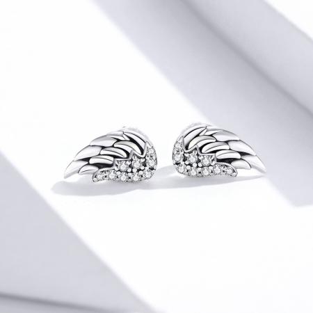 Cercei argint Aripi de Inger cu zirconii1