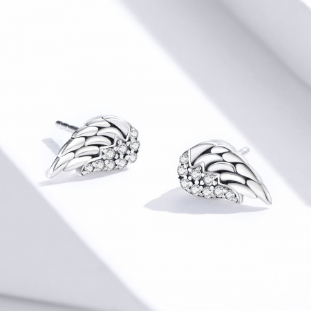 Cercei argint Aripi de Inger cu zirconii4