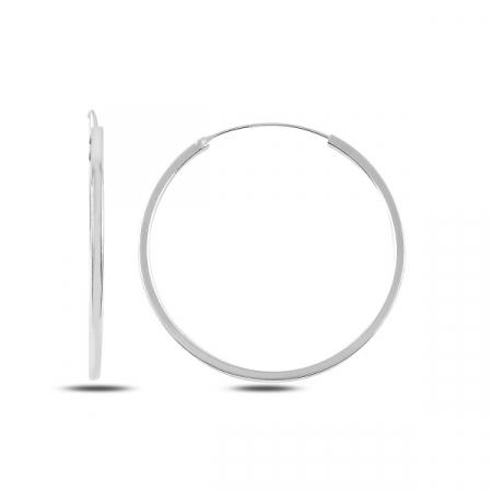 Cercei argint creole rotunde diametru 35 mm - ETU0144