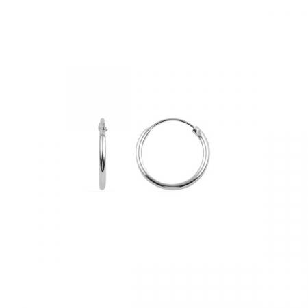 Cercei argint creole 12 mm, simpli