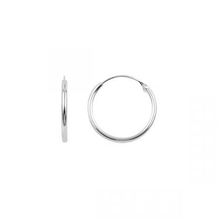 Cercei argint creole, simpli 16 mm